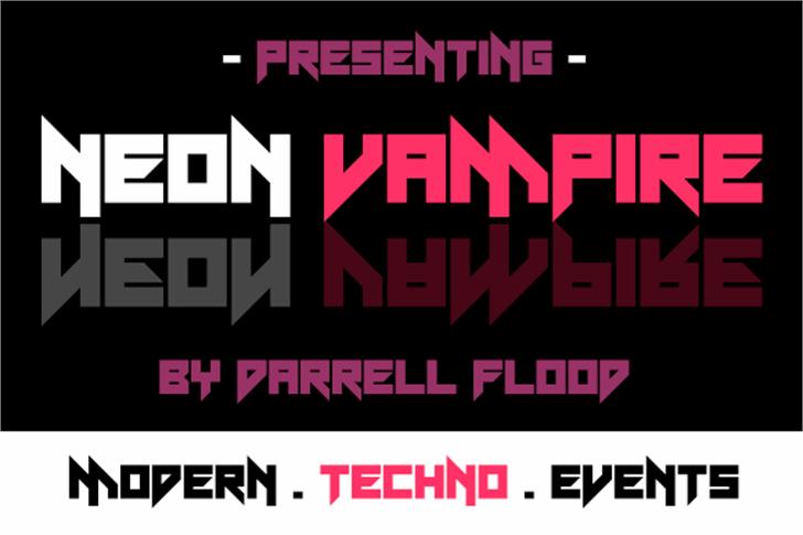Neon Vampire font by Darrell Flood