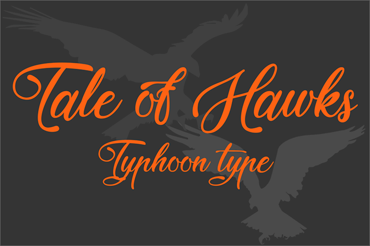 Tale of Hawks Font design graphic