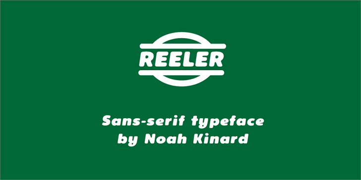 Reeler Personal Use Only Font design logo