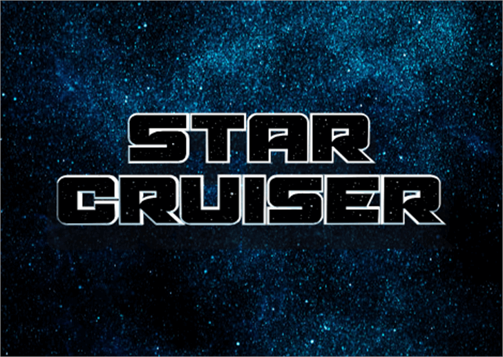 Starcruiser Font screenshot
