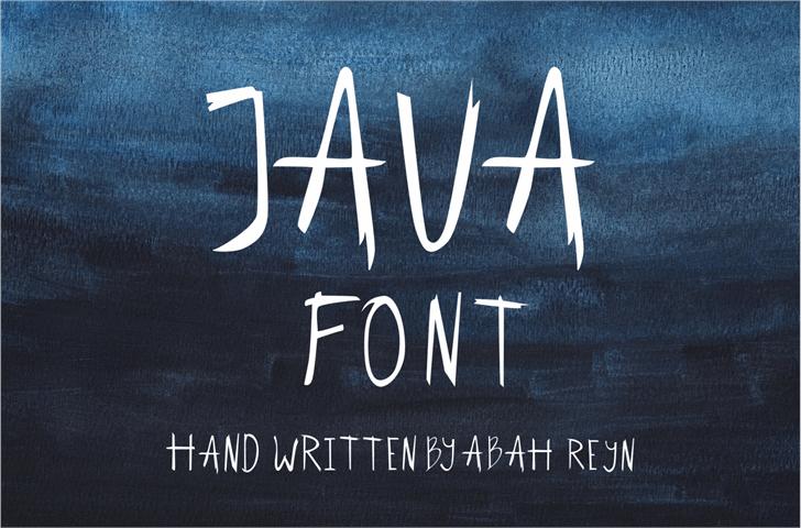 Javafont poster