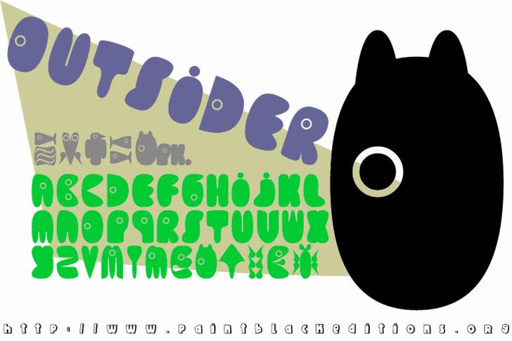 Outsider Font cartoon design