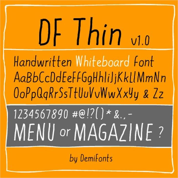 DF Thin Font screenshot text