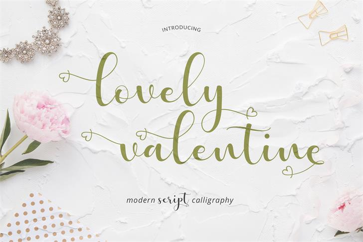lovely valentine Font handwriting map