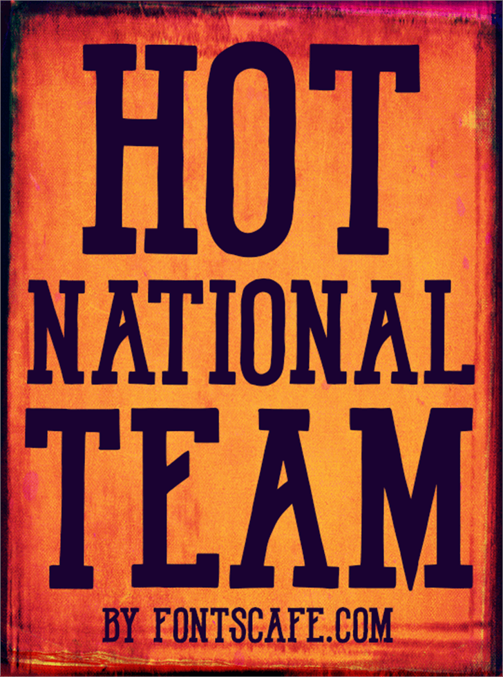 Hot National Team DEMO Font poster book