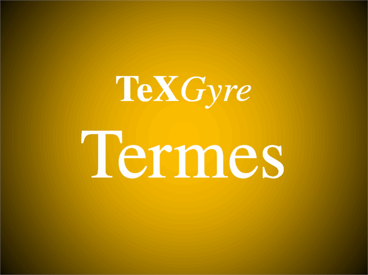 TeXGyreTermes Font design typography
