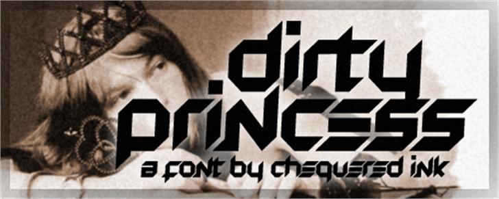 Dirty Princess Font poster human face