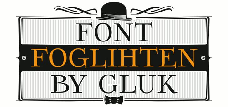 Foglihten Font design poster