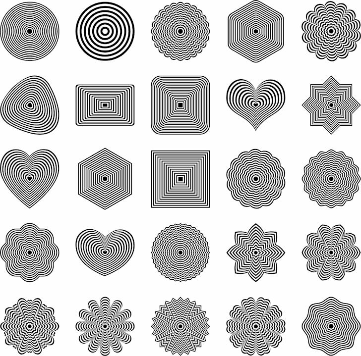 font shapes beautiful Font moon vector graphics