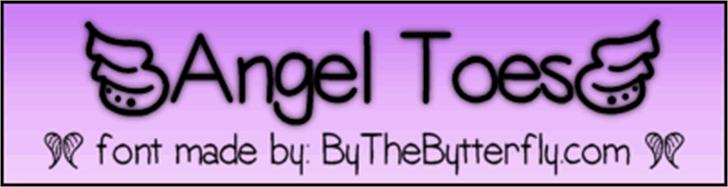 AngelToes Font screenshot font