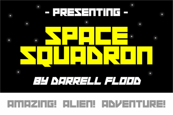 Space Squadron Font screenshot poster