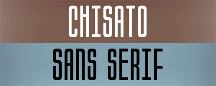 Chisato Font poster screenshot