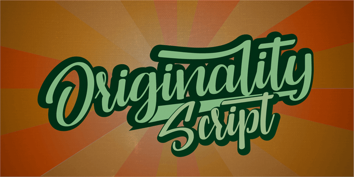 Originality Script Personal Use Font poster container