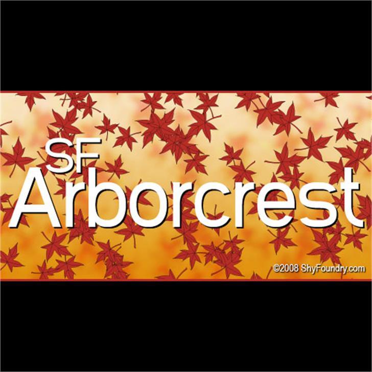 SF Arborcrest Medium Font screenshot text