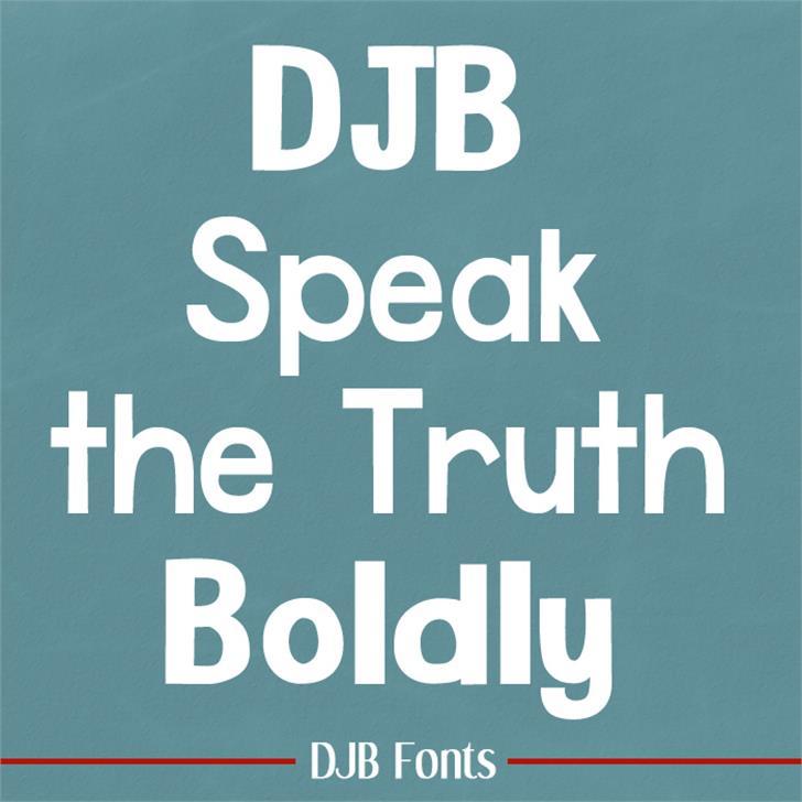 DJB Speak the Truth Font bottle screenshot