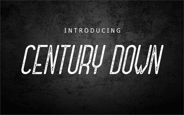 Century Down Font poster text