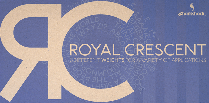Royal Crescent Font book poster