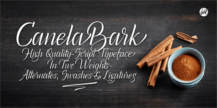 Canela Bark Personal Use Font handwriting text