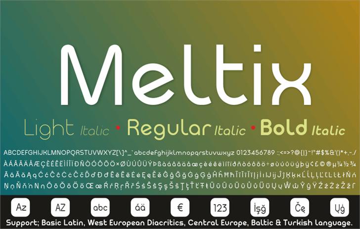 Meltix Bold Demo Font screenshot design