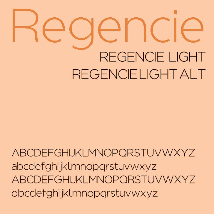 Regencie font by Álvaro Thomáz
