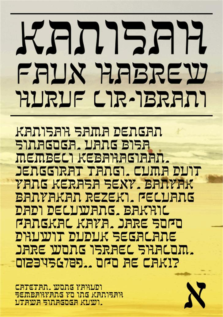 Kanisah Font text screenshot