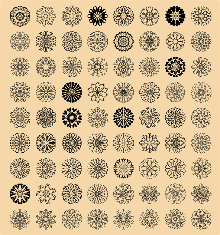 shapes font by elharrak