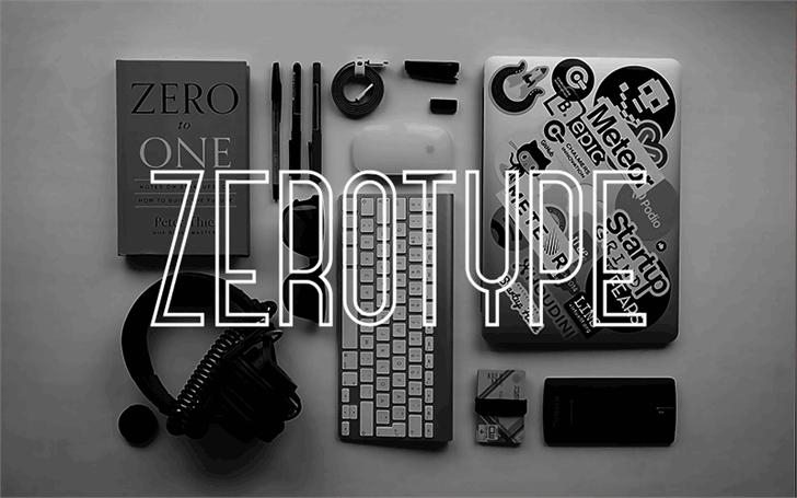Zerotype Font design electronics