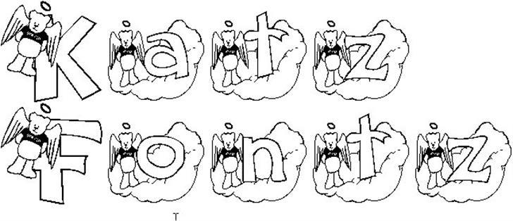 KG ANGELBEAR font by Katz Fontz