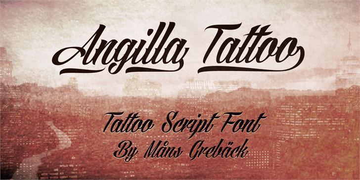 Angilla Tattoo Personal Use  font by Måns Grebäck