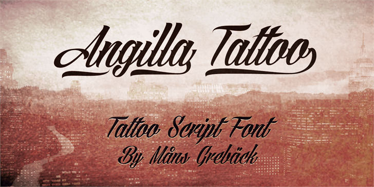 Angilla Tattoo Personal Use  Font text typography