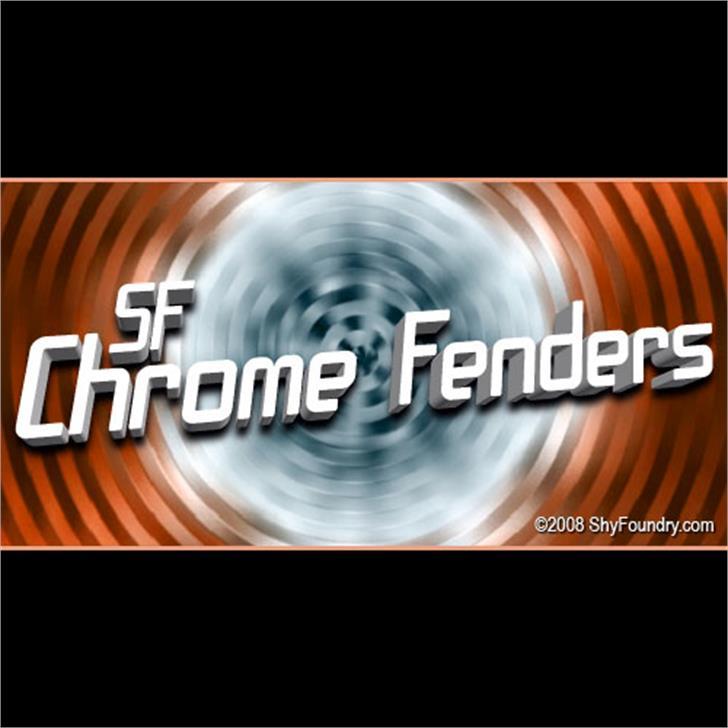 SF Chrome Fenders Font screenshot