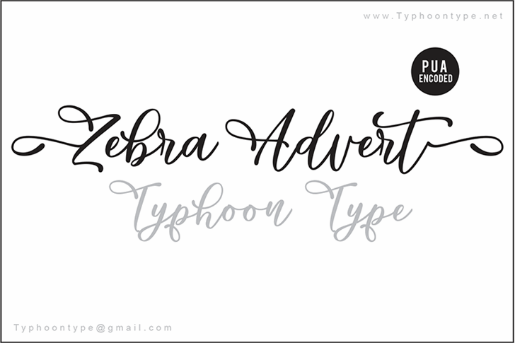 Zebra Advert - Personal Use Font handwriting