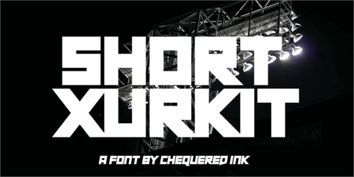 Short Xurkit Font design graphic