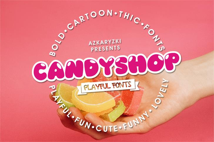 Candyshop Font food design