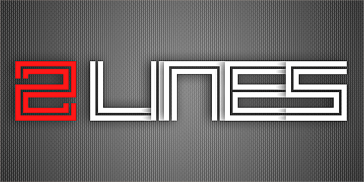 2 Lines Font abstract design