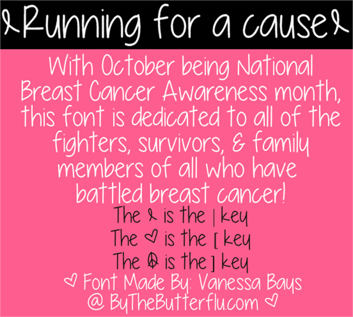 Running for a cause font by ByTheButterfly