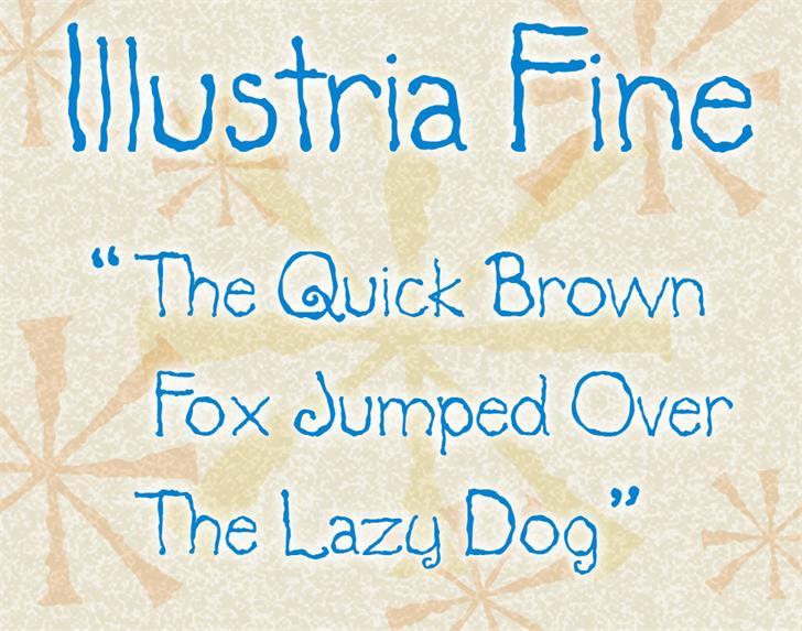 Illustria Font handwriting text