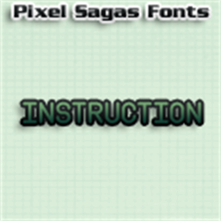 Instruction font by Pixel Sagas