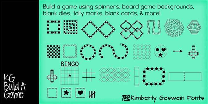 KG Build A Game Font screenshot font