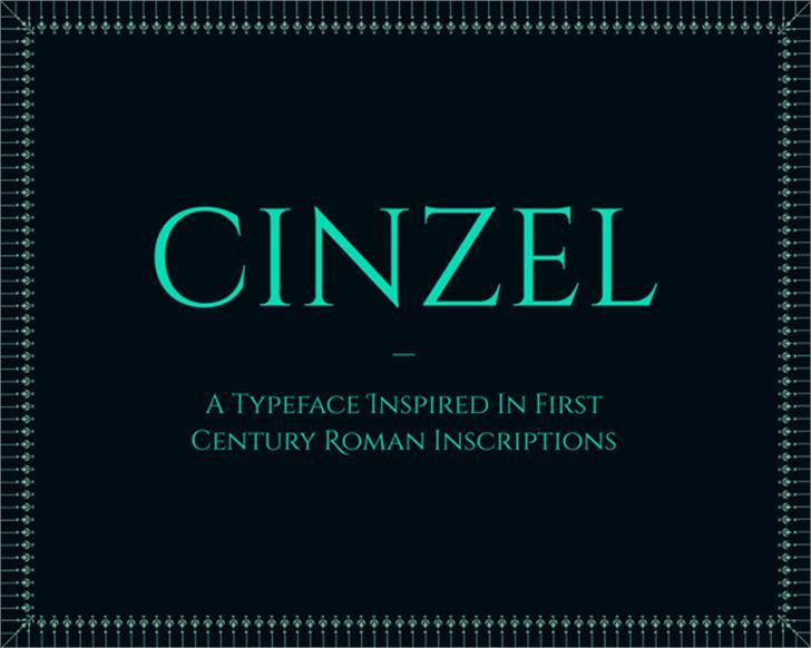 Cinzel Font screenshot design