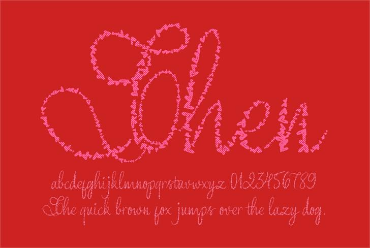 Yore script  Font design illustration