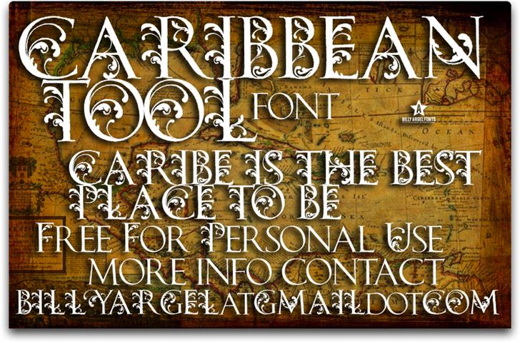 CARIBBEAN TOOL Font text typography