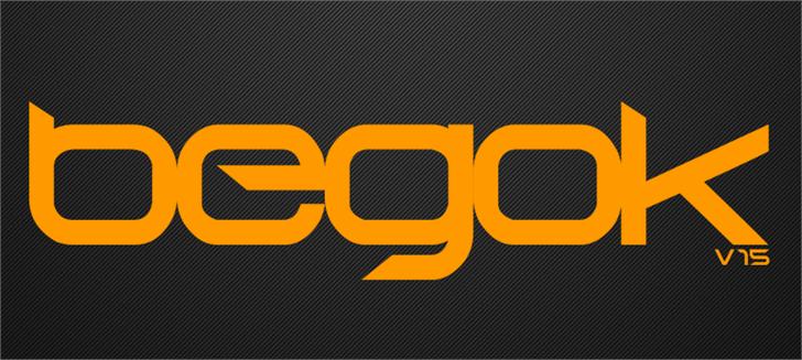 Begok v15 Font design graphic