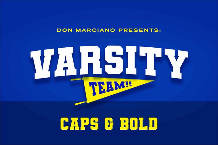 Varsity Team Font screenshot design