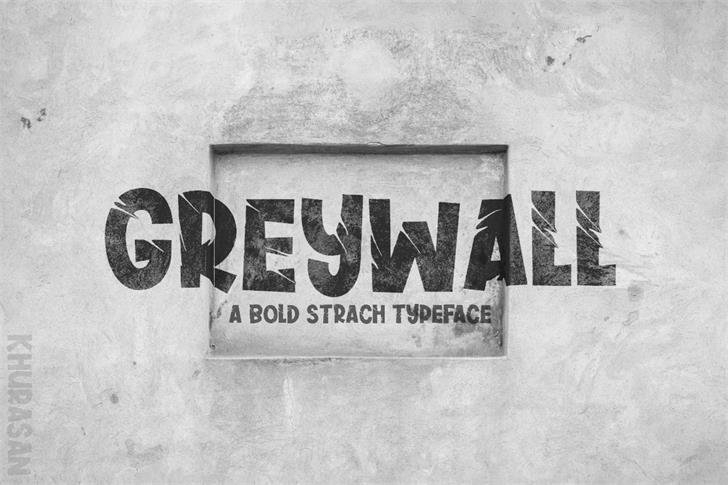 Greywall Font poster