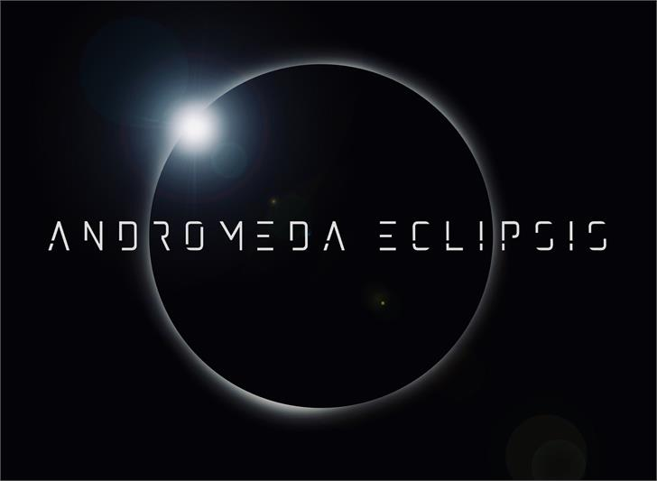 Andromedaeclipsis font by JoannaVu