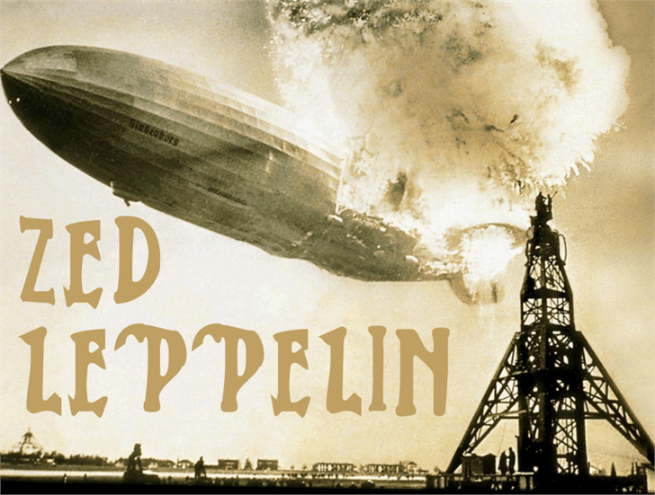 Zed Leppelin font by Intellecta Design