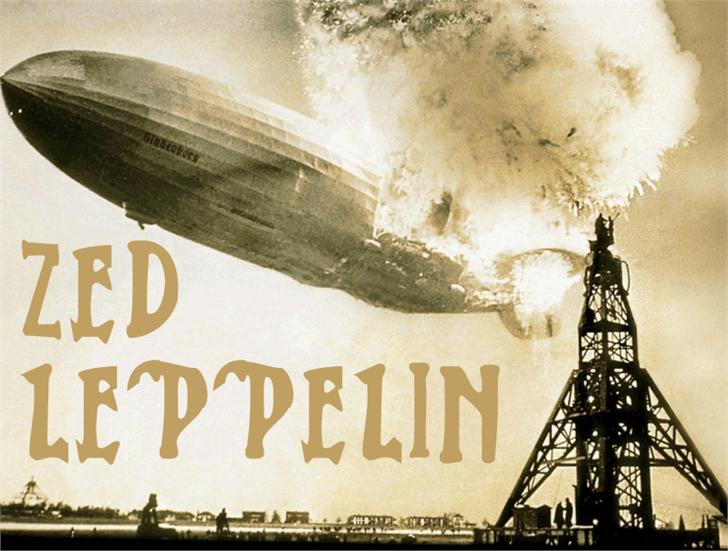 Zed Leppelin Font handwriting poster