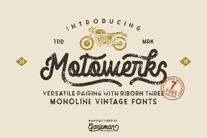 Motowerks Font design typography