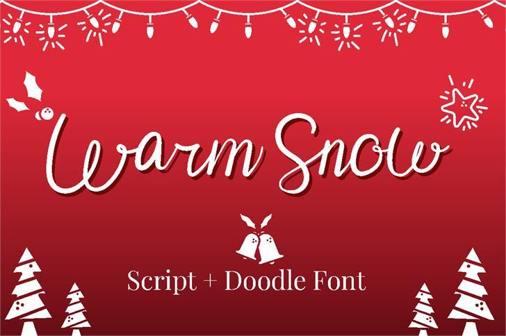 Warm Snow Font design graphic